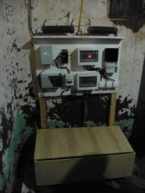 The electrical system board and the battery box